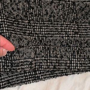Express Shorts - Express B&W Tweed-Like Plaid Shorts